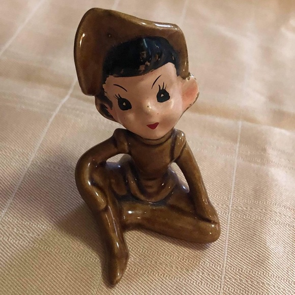 Vintage ceramic elf made in Japan is so cute Elf